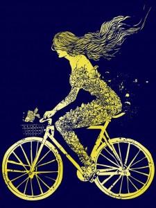 bicicleta libertad mujer