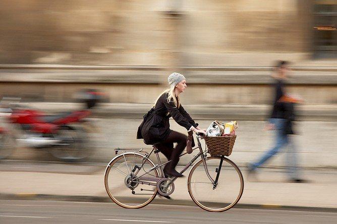 al trabajo en bici