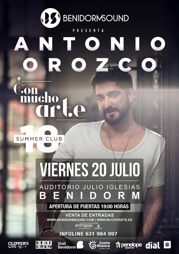 concierto Antonio Orozco Benidorm